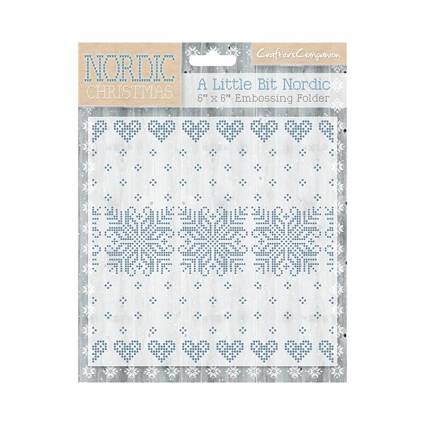 Crafter`s Companion - Embossingfolder - Nordic Collection - A Little Bit Nordic - NC-EF6-LBN