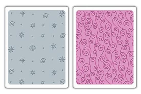 Sizzix - Embossingfolder - Dots, Flowers & Swirly Vine Set - 656798