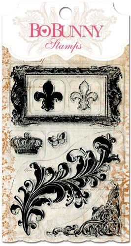 Bo Bunny - Clearstamp - Flourishes & Such Stamp - 10105757