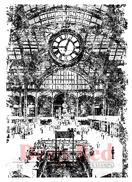 Deep Red - Cling Stamp - Train Station - 4X500021