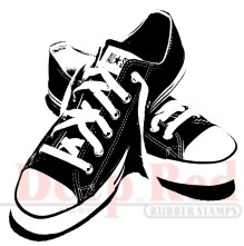 Deep Red - Cling Stamp - All Star Sneakers - 3X404282
