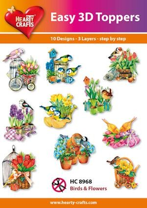 Hearty Crafts - Easy 3D Toppers - Birds & Flowers - HC8968