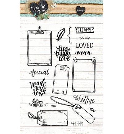 Studio Light - Clearstamp - Love & Home - STAMPLH126