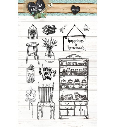 Studio Light - Clearstamp - Love & Home - STAMPLH125
