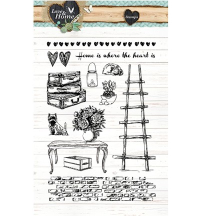 Studio Light - Clearstamp - Love & Home - STAMPLH124