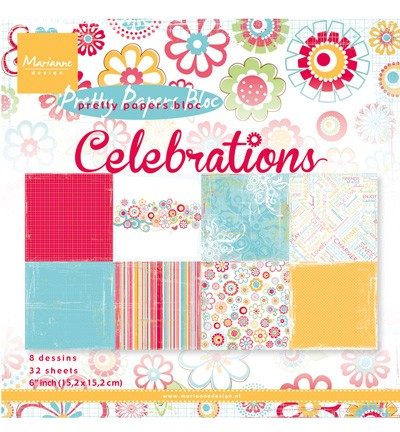 Marianne Design - Paperpack - Pretty Papers - Celebrations - PK9131