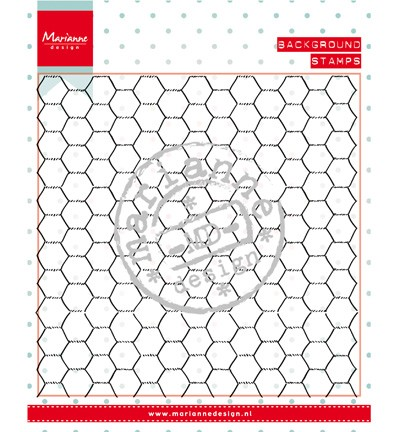 Marianne Design - Clearstamp - Background: chickenwire - CS0955