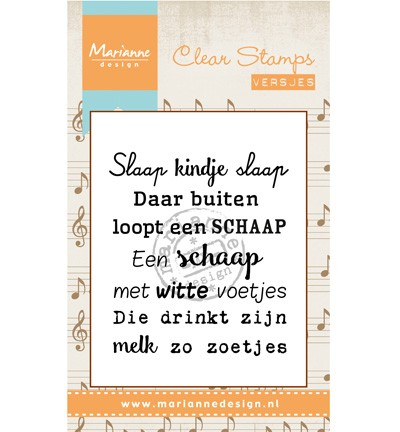Marianne Design - Clearstamp - Liedje: Slaap kindje slaap - CS0961