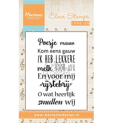 Marianne Design - Clearstamp - Liedje: Poesje mauw - CS0962