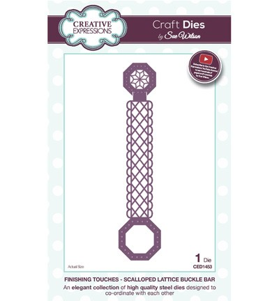 Creative Expressions - Die - The Finishing Touches Collection - Scalopped Lattice Buckle Bar