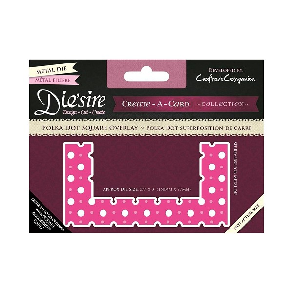 Die`sire - Die - Create-A-Card - Polka Dot Square Overlay - DS-CADO-PDS