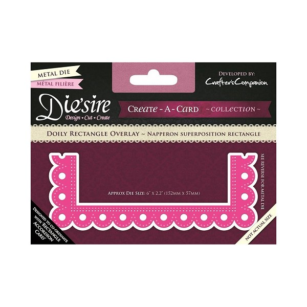 Die`sire - Die - Create-A-Card - Doily Rectangle Overlay - DS-CADO-DOIR