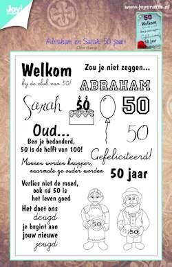Joy! crafts - Clearstamp - Abraham en Sarah: 50 jaar - 6410/0365