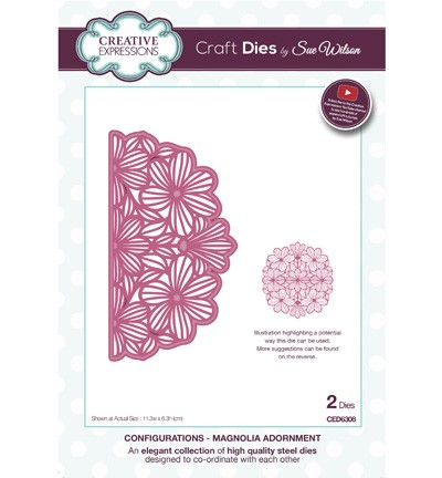 Creative Expressions - Die - The Configurations Collection - Magnolia Adornment - CED6308