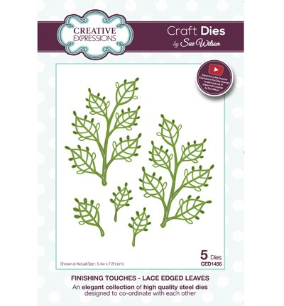 Creative Expressions - Die - The Finishing Touches Collection - Lace Edged Leaves - CED1456