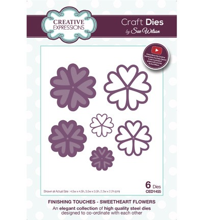 Creative Expressions - Die - The Finishing Touches Collection -  Sweetheart Flower