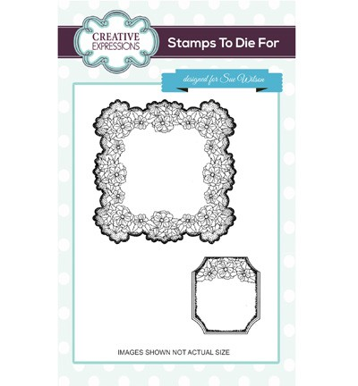 Creative Expressions - Cling Stamp - Stamps To Die For - Floral Oasis - UMS700