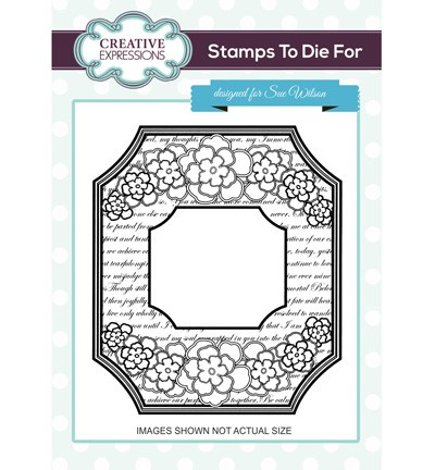 Creative Expressions - Cling Stamp - Stamps To Die For - Tuileries Frame - UMS698