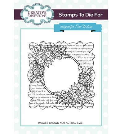 Creative Expressions - Cling Stamp - Stamps To Die For - Scripted Clematis - UMS697