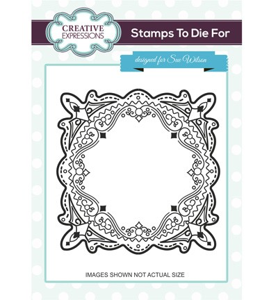 Creative Expressions - Cling Stamp - Stamps To Die For - Victoria Frame - UMS696
