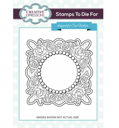 Creative Expressions - Cling Stamp - Stamps To Die For - Retro Roses - UMS695