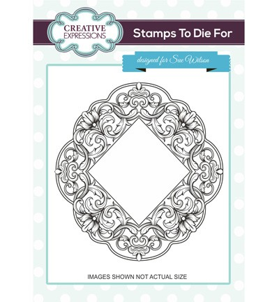 Creative Expressions - Cling Stamp - Stamps To Die For - Heritage Flourish - UMS694