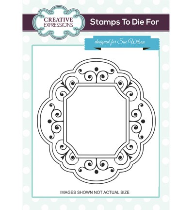 Creative Expressions - Cling Stamp - Stamps To Die For - Hamilton Frame - UMS692