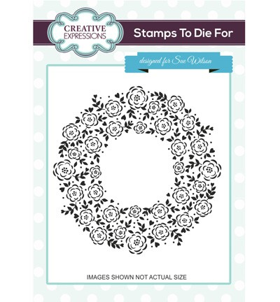 Creative Expressions - Cling Stamp - Stamps To Die For - Floret Circle - UMS689
