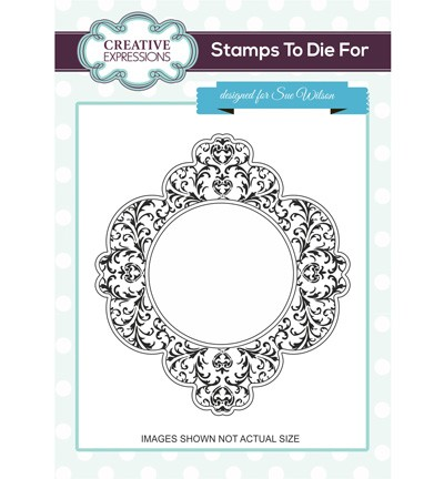 Creative Expressions - Cling Stamp - Stamps To Die For - Damask Delight - UMS687