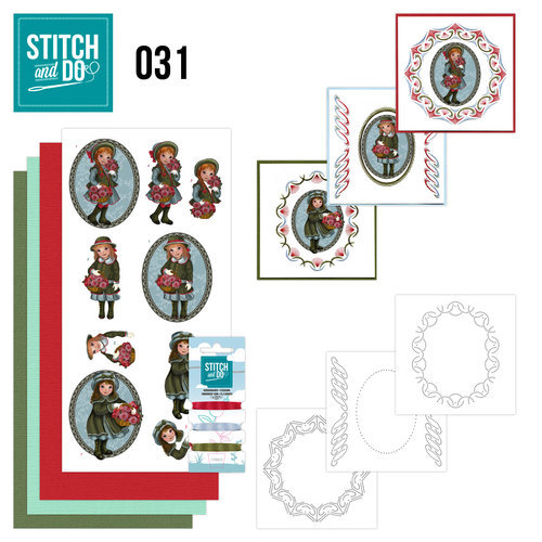 Card Deco - Kaartenpakket - Stitch & Do No. 31 - Beterschap - STDO031