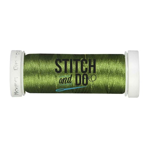 Card Deco - Stitch and Do - Borduurgaren - Linnen: Moss-green - SDCD41