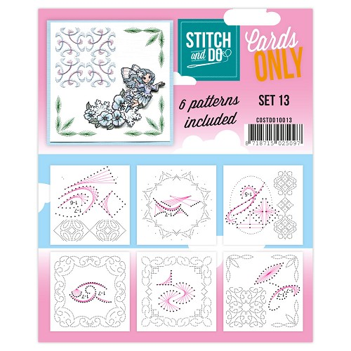 Card Deco - Stitch & Do - Oplegkaarten - Cards only - Set 13 - COSTDO10013