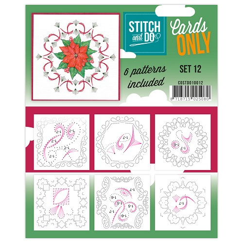 Card Deco - Stitch & Do - Oplegkaarten - Cards only - Set 12 - COSTDO10012