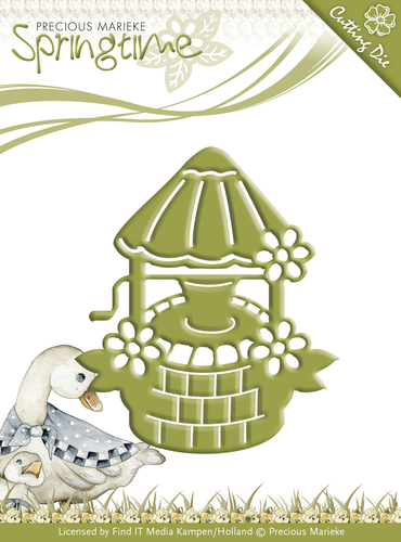 Card Deco - Precious Marieke - Die - Springtime - Wishing Well