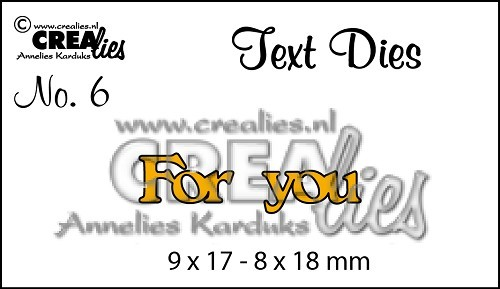 Crealies - Die - Tekststans - English Text - For You