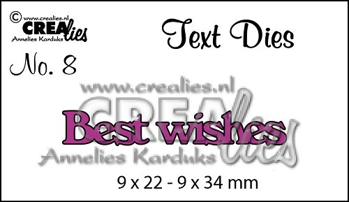 Crealies - Die - Tekststans - English Text - Best wishes