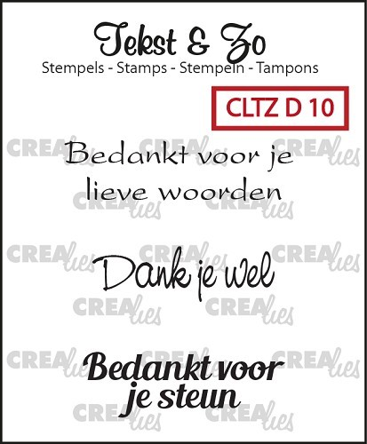 Crealies - Clearstamp - Tekst & Zo - Divers 10 - CLTZD10