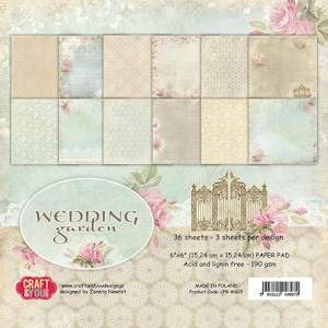 Craft & You Design - Paperpack - Wedding Garden - CPB-WG15