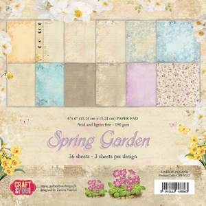 Craft & You Design - Paperpack - Spring Garden - CPB-SG15