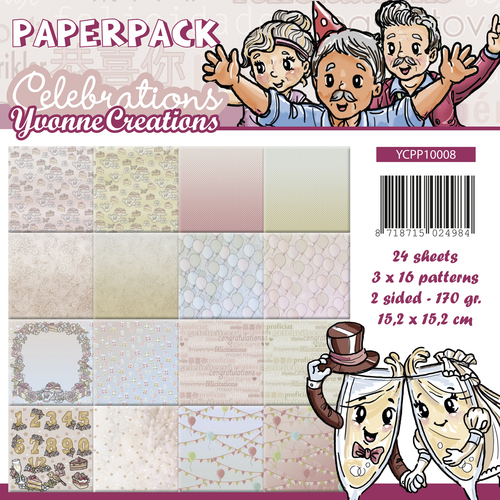 Card Deco - Yvonne Creations - Paperpack - Celebrations