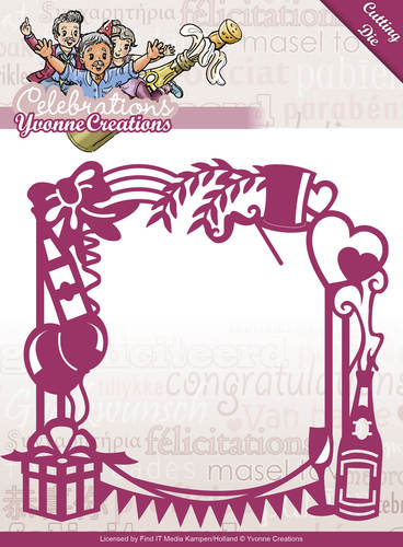 Card Deco - Yvonne Creations - Die - Celebrations - Party Frame