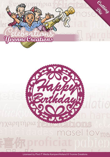 Card Deco - Yvonne Creations - Die - Celebrations - Happy Birthday