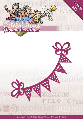 Card Deco - Yvonne Creations - Die - Celebrations - Bunting - YCD10049