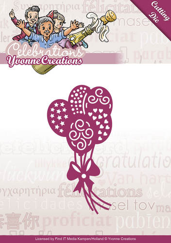 Card Deco - Yvonne Creations - Die - Celebrations - Balloons