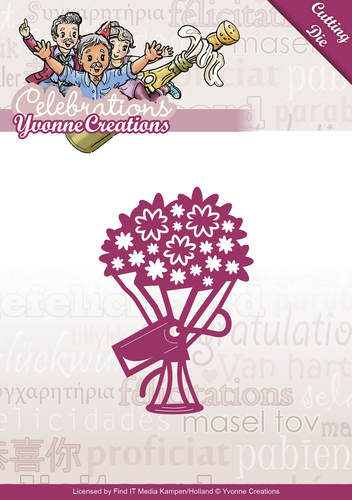 Card Deco - Yvonne Creations - Die - Celebrations - Bouquet