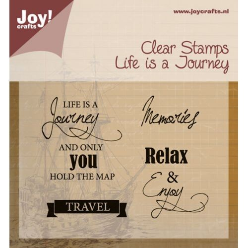 Joy! crafts - Noor! Design - Clearstamp - Life is a journey - 6410/0409