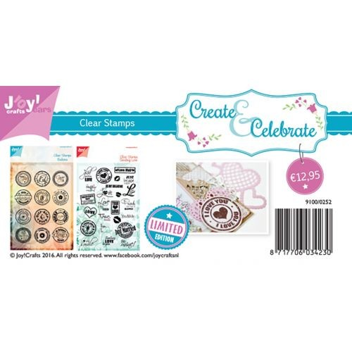 Joy! crafts - Kaartenpakket - Create & Celebrate - Clearstamps - 9100/0252