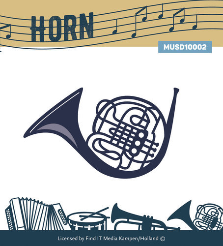 Card Deco - Yvonne Creations - Die - Music Series - Horn