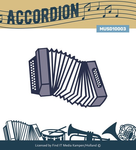 Card Deco - Yvonne Creations - Die - Music Series - Accordion