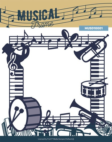 Yvonne Creations - Die - Music Series - Musical Frame - MUSD10001